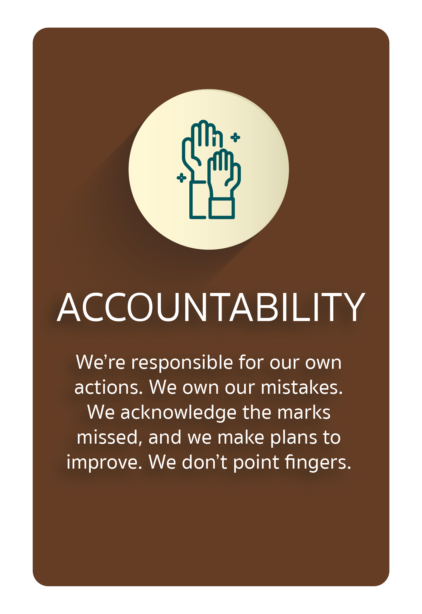 Core Value Accountability